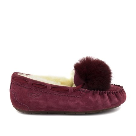 Мокасины UGG Dakota Pom Pom Red Wine