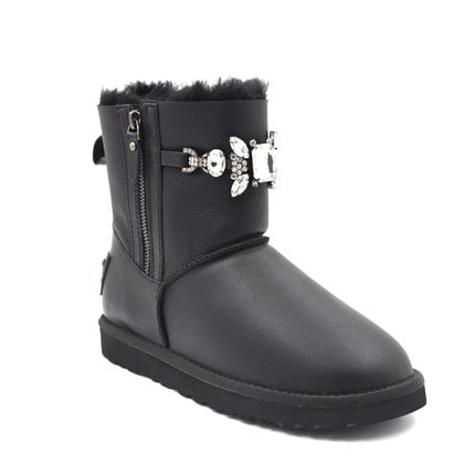 Угги UGG Double Zip Gretta Metallic Black