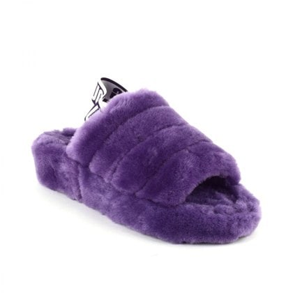 Тапочки UGG Fluff Yeah Logo Slide Violet Bloom