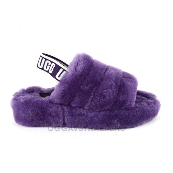 Тапочки UGG Fluff Yeah Logo Slide Violet Bloom