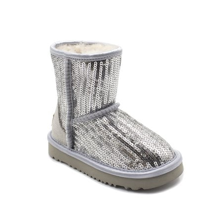 Угги UGG Kids Classic Short Sparkles Silver