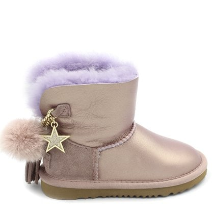 Угги UGG Kids Mini Charm Metallic Amethyst