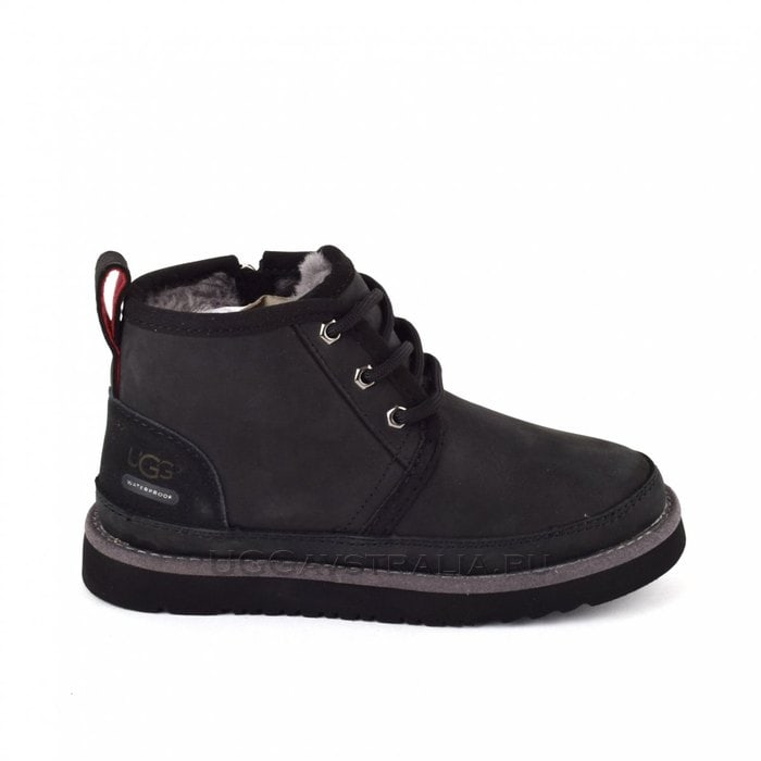 Детские ботинки UGG Kids Neumel II WP Zip Nubuck Black