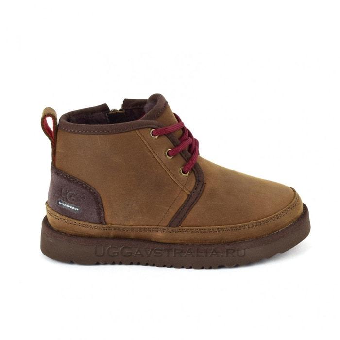 Детские ботинки UGG Kids Neumel II WP Zip Nubuck Grizzly
