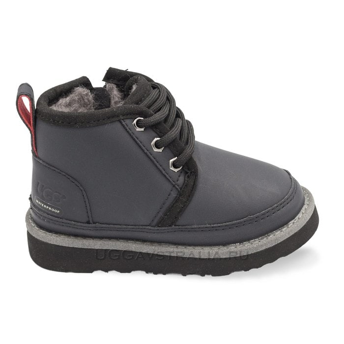 Детские ботинки UGG Kids Neumel WP Zip Nubuck Black