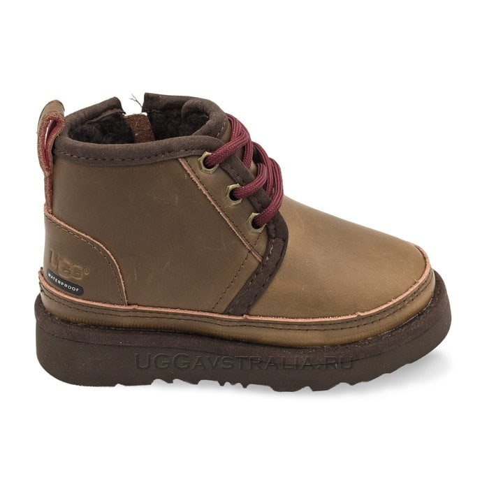 Детские ботинки UGG Kids Neumel WP Zip Nubuck Grizzly