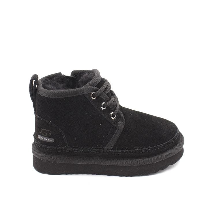 Детские ботинки UGG Kids Neumel II WP Zip Suede Black