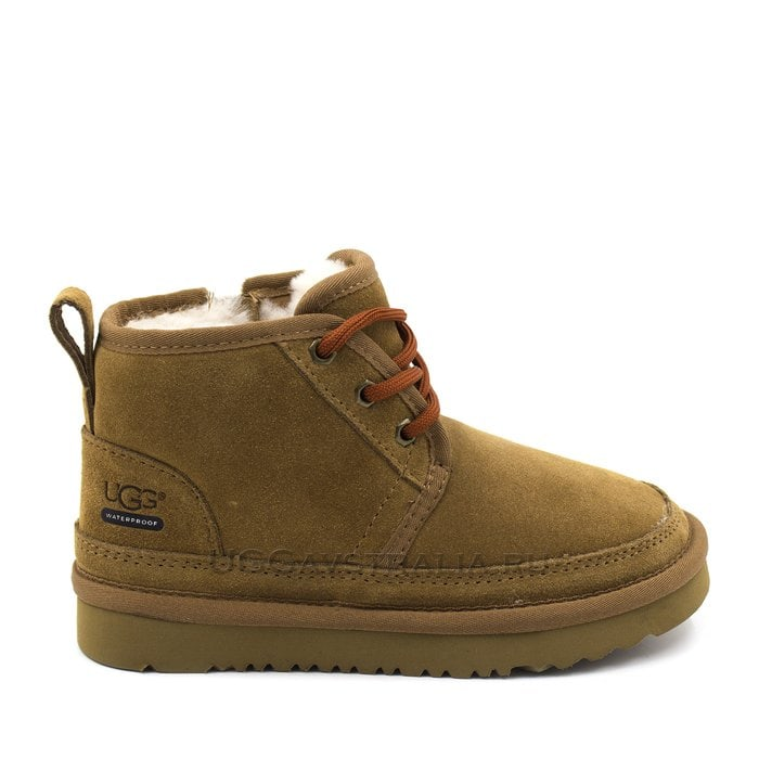 Детские ботинки UGG Kids Neumel II WP Zip Suede Chestnut