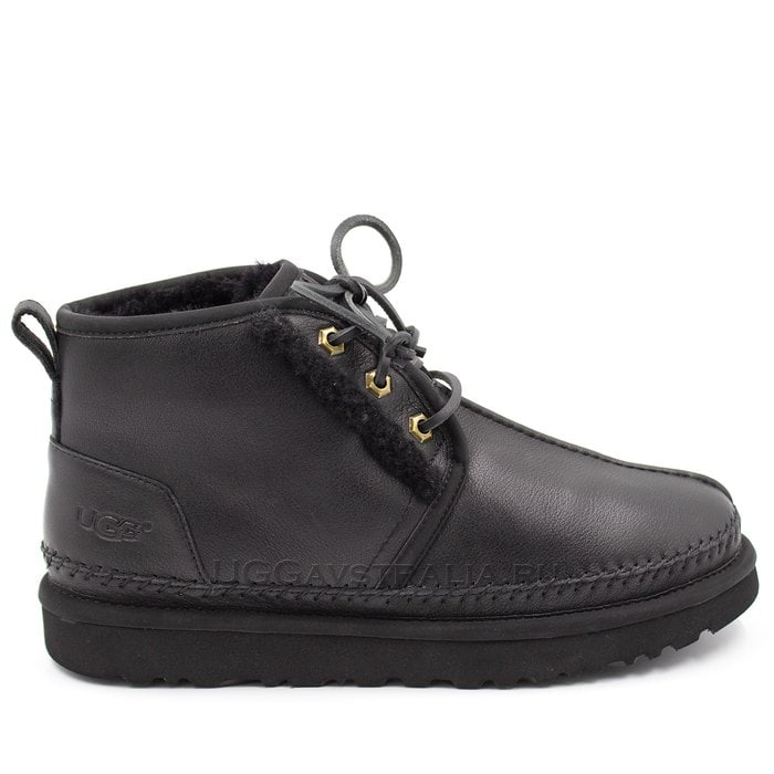 Мужские ботинки UGG Mens Neumel Stitch Leather Black