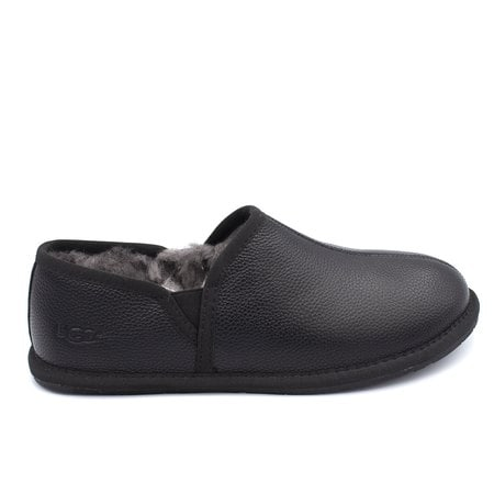 Слипоны UGG Mens Scuff Romeo II Slipper Leather Black