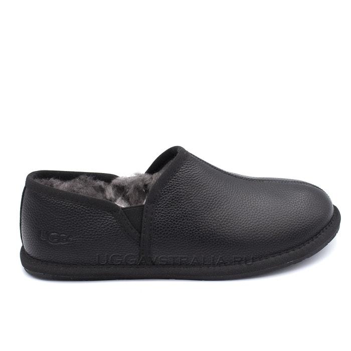 Мужские слипоны UGG Mens Scuff Romeo II Slipper Leather Black