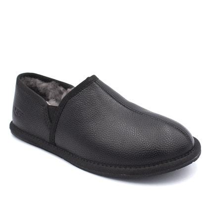 Слипоны UGG Mens Scuff Romeo II Slipper Leather Black