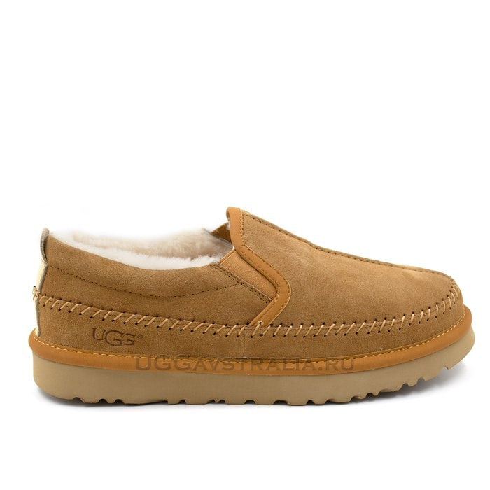 Мужские слипоны UGG Mens Stitch Slip Chestnut