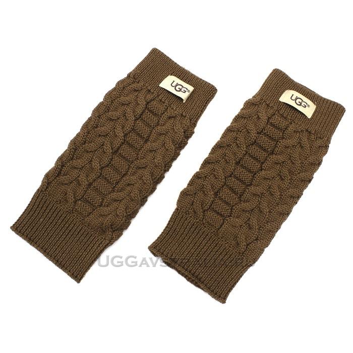 Женские перчатки UGG Wool Gloves Chestnut