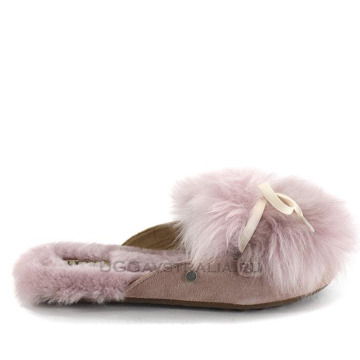Женские тапочки UGG Shaine Fluff Slippers Pink