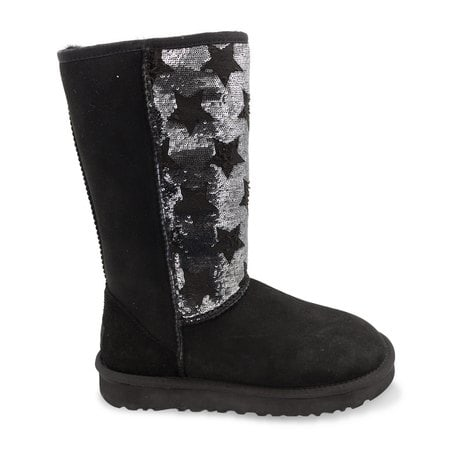 Угги UGG Tall Shabby Star Black