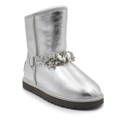 Угги UGG Zanotti Carolina Metallic Silver