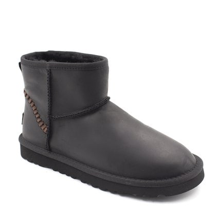 Угги UGG Mens Classic Mini Deco Leather Black