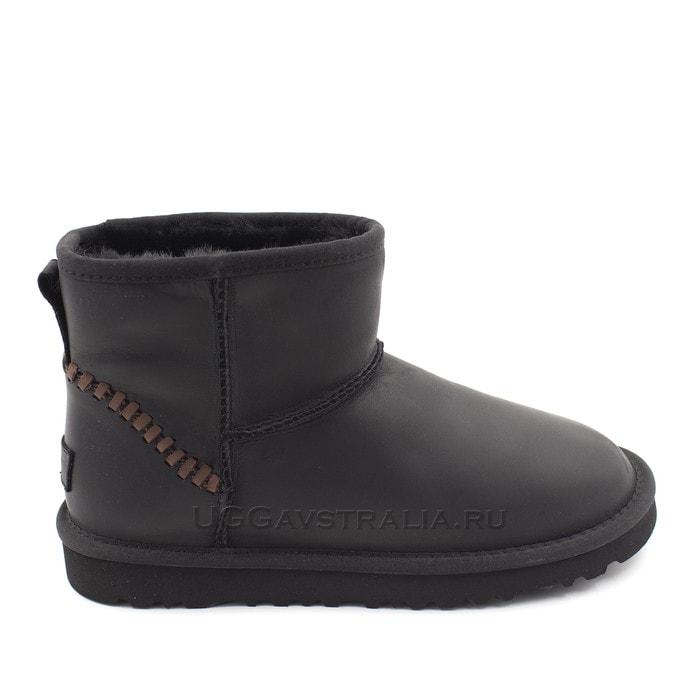 Мужские полусапожки UGG Mens Classic Mini Deco Leather Black