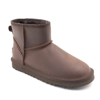 Угги UGG Mens Classic Mini Deco Leather Chocolate