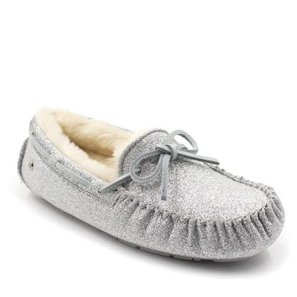 Мокасины UGG Dakota Sparkle Silver
