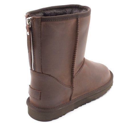 Угги UGG Mens Classic Short Zip Nubuck Chocolate