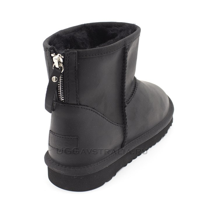 Мужские полусапожки UGG Mens Classic Mini Zip Nubuck Black