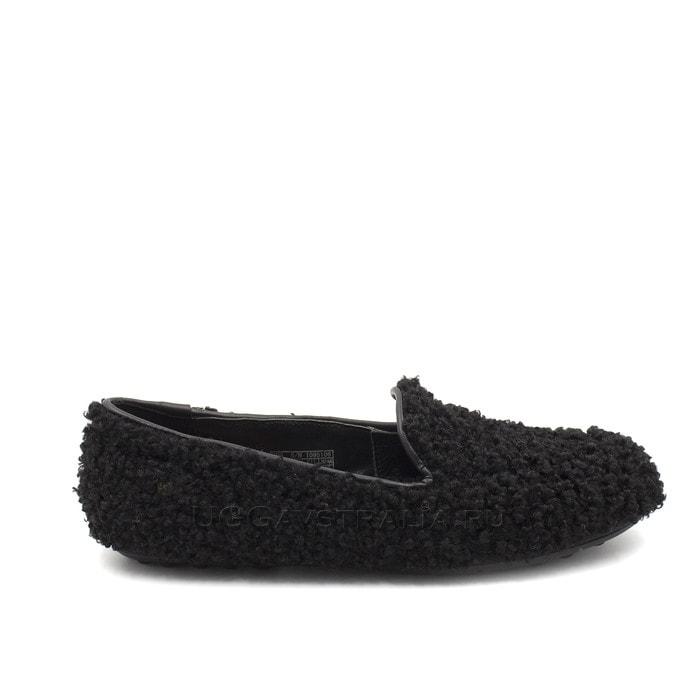 Женские мокасины UGG Hailey Fluff Loafer Black