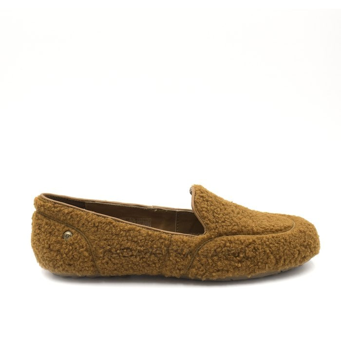 Женские мокасины UGG Hailey Fluff Loafer Chestnut
