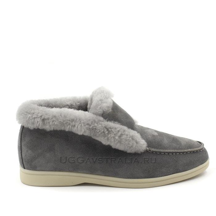 Женские ботинки Loro Piana Classic Luxe Grey