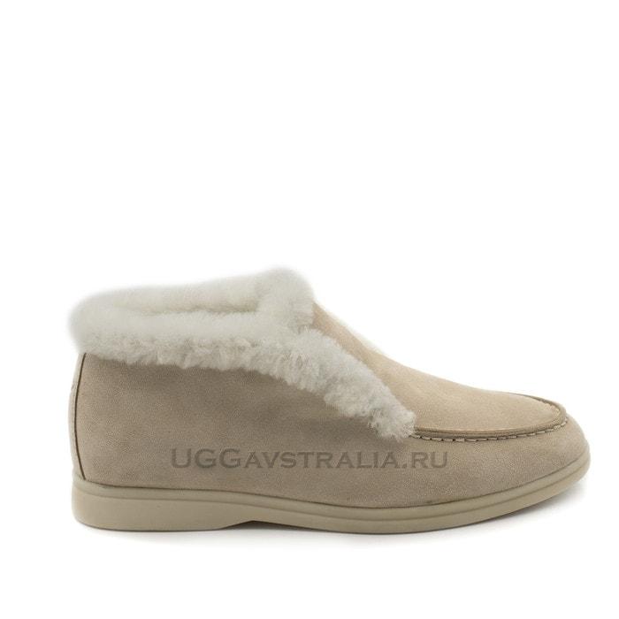 Женские ботинки Loro Piana Classic Luxe Sand