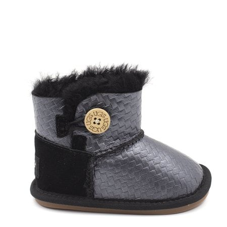 Пинетки UGG Baby Bailey Button Glitter Black