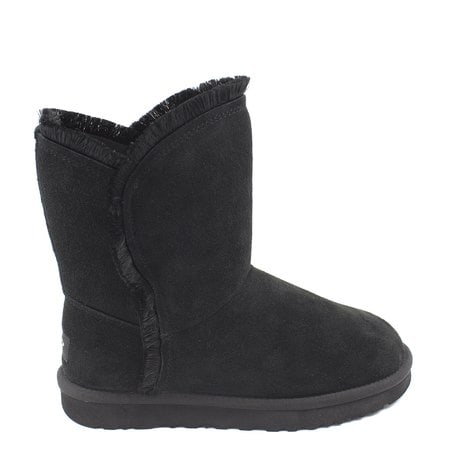 Угги UGG Classic Short Fluff High-Low Black