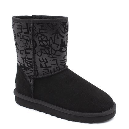Угги UGG Classic Short Sparkle Graffiti Black