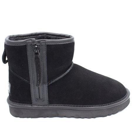 Угги UGG Classic Mini Zip Waterproof Black