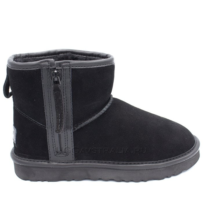 Женские полусапожки UGG Classic Mini Zip Waterproof Black