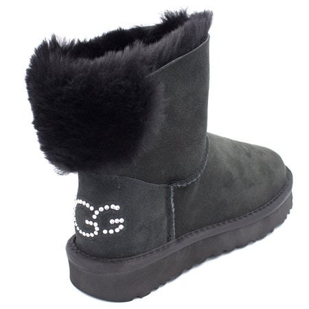 Угги UGG Classic Bling Mini Black
