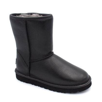 Угги UGG Classic Short Leather Black
