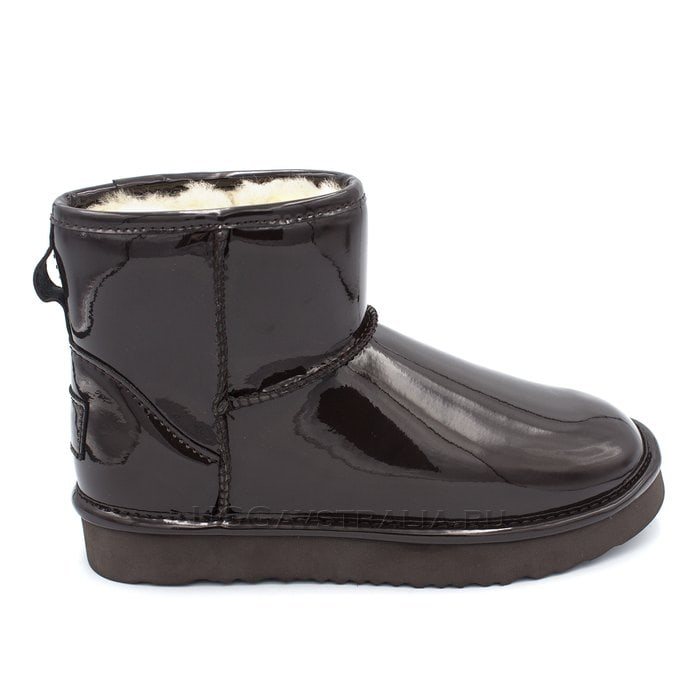 Женские полусапожки UGG Jimmy Choo Mini Patent II Chocolate