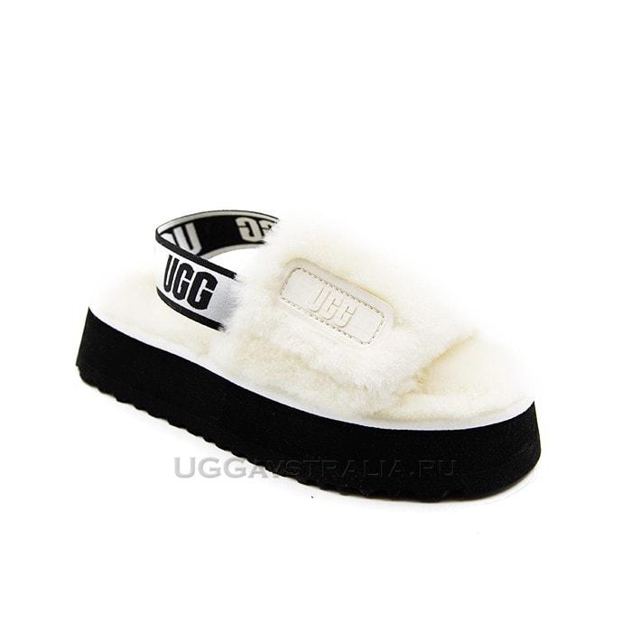 Женские тапочки UGG Disco Slide White