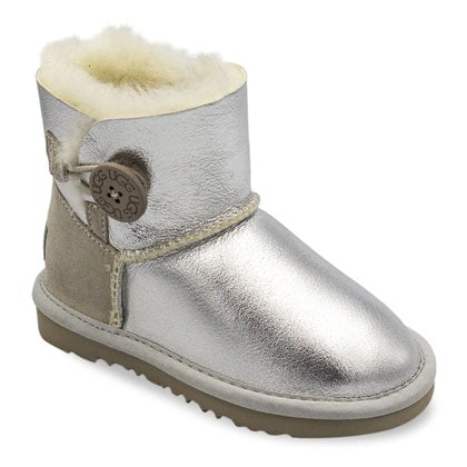 Угги UGG Kids Bailey Button Metallic Silver