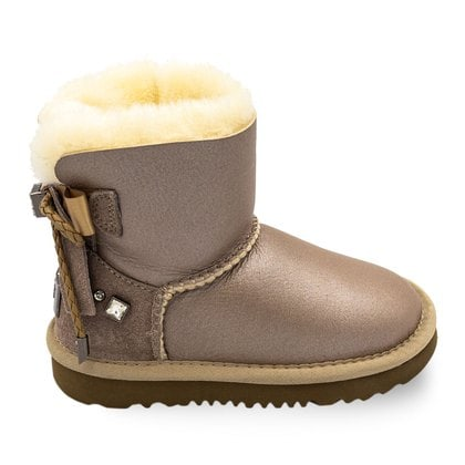 Угги UGG Kids Bailey Bow Braid Metallic Sand