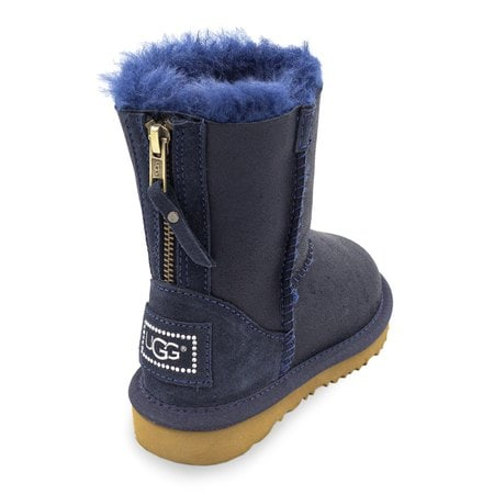 Угги UGG Kids Classic Short Zip Metallic Navy