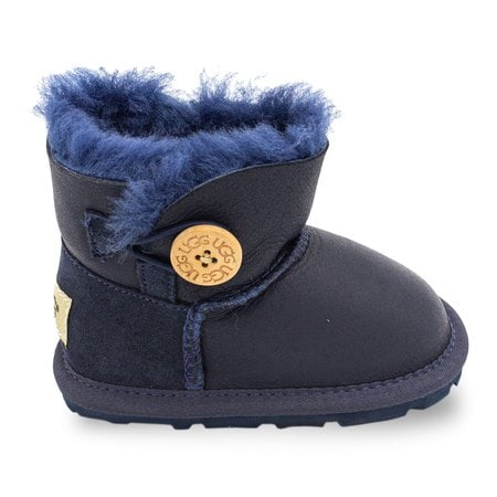 Пинетки UGG Baby Bailey Button Metallic Navy
