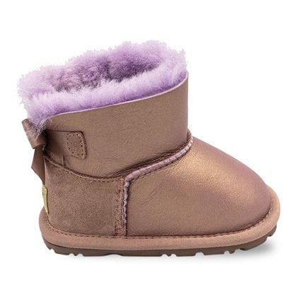 Пинетки UGG Baby Bailey Bow Metallic Dusk