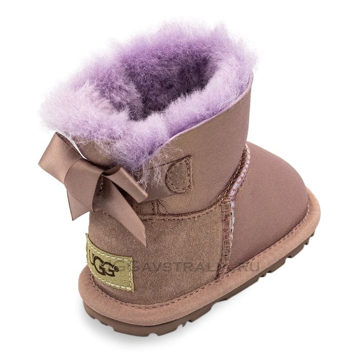 Детские пинетки UGG Baby Bailey Bow Metallic Dusk