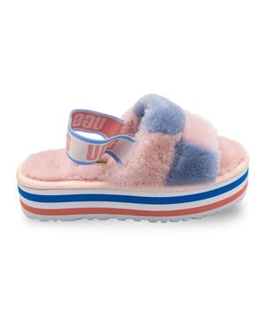 Тапочки UGG Disco Slide Pride Pink Blue