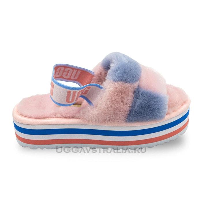Женские тапочки UGG Disco Slide Pride Pink Blue