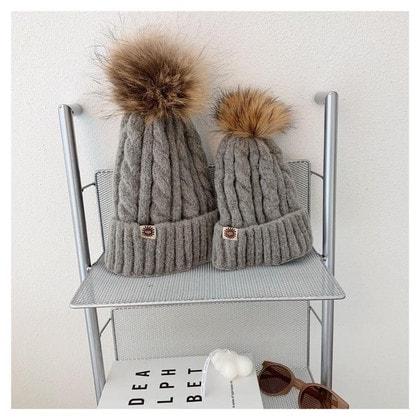 Шапка UGG Knit Pom Hat Grey