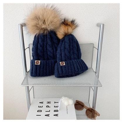 Шапка UGG Knit Pom Hat Navy